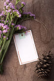 Blank greeting card romantic mood. Royalty Free Stock Photo