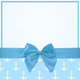 Blank greeting card template for a boy. Stock Photography