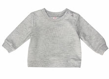Blank grey baby child's shirt isolated. Royalty Free Stock Images