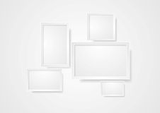 Blank grey frame abstract background Stock Image