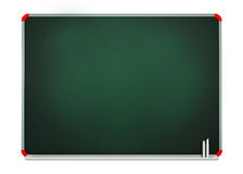 Blank Grey Green Board Isolated on White Background Royalty Free Stock Photos
