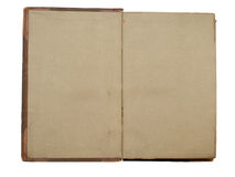 Blank grey pages of an open vintage book Royalty Free Stock Photos