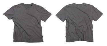 Blank grey t-shirts. Royalty Free Stock Image