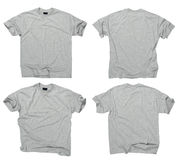 Blank Grey T-shirts Front And Back Stock Image