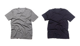Blank grey t-shirts. Royalty Free Stock Images