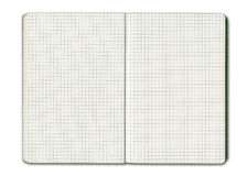 Blank grid notebook Stock Photos