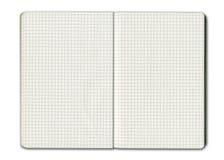 Blank grid notebook stock photos