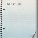 Blank Grocery List Stock Photos