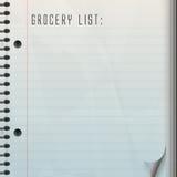 Blank Grocery List stock illustration
