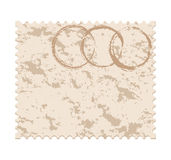 Blank grunge post stamp on white background Royalty Free Stock Photos