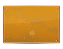 Blank grungy metal board Stock Photography