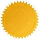Blank guarantee label Stock Image
