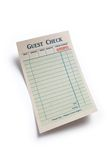 Blank Guest Check. Concept of restaurant expense Stock Images