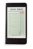 Blank Guest Check. Concept of restaurant expense Royalty Free Stock Photo