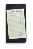 Blank Guest Check Royalty Free Stock Photo