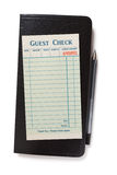 Blank Guest Check. Concept of restaurant expense Royalty Free Stock Photography