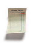 Blank Guest Check. Concept of restaurant expense Stock Photography