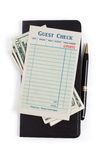 Blank Guest Check and dollar Stock Images