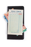 Blank Guest Check and dollar Royalty Free Stock Images