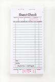 Blank Guest Check Pad Royalty Free Stock Photo