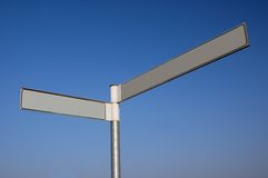 Blank Guidepost. Royalty Free Stock Photography
