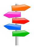 Blank guidepost Stock Photo