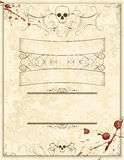Blank Halloween Horror Flyer. A blank Halloween invitation flyer with skulls and blood stains vector illustration