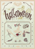 Blank Halloween party poster - editable Stock Photos