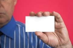 Blank in hand Royalty Free Stock Photos