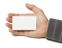 blank hand för affärskort Royaltyfria Bilder