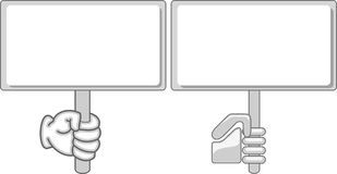 Blank hand held sign/billboard Stock Photo