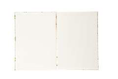 Blank handmade notebook isolate on white background Stock Images