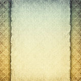 Blank handmade paper sheet on patterned background Royalty Free Stock Photo