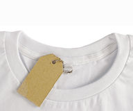 blank hang över prislapptshirten Royaltyfri Fotografi