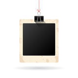 Blank hanging instant photo card Royalty Free Stock Photo