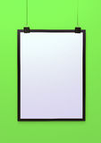 Blank hanging poster template 3d illustration Royalty Free Stock Photos