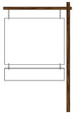 Blank Hanging Sign Royalty Free Stock Photography