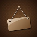Blank hanging sign for your text Stock Images