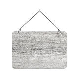 Blank hanging wooden shield Royalty Free Stock Image