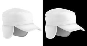 Blank hat for autumn and winter. Royalty Free Stock Photography