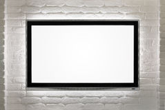 Blank HD TV at the wall Stock Image