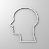 Blank head shape Royalty Free Stock Photos