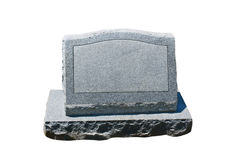 Blank headstone Stock Photos
