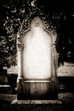 Blank headstone Royalty Free Stock Photo