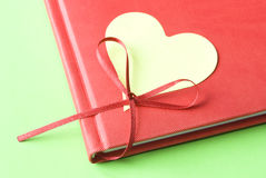 Blank Heart with Diary Stock Photo