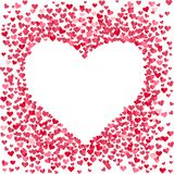 Blank Heart Made Of Small Confetti Hearts Stock Images