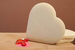 A Blank heart shaped sugar cookie Stock Photo