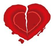 Blank heart wax seal Royalty Free Stock Photography