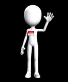 Blank Hello My Name Is. Blank faceless figure with a Hello my name is badge Royalty Free Stock Photography