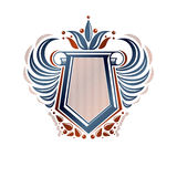 Blank heraldic coat of arms decorative emblem with copy space an Stock Image